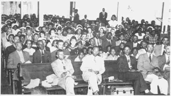 One of the meetings held at Liberty Hill
